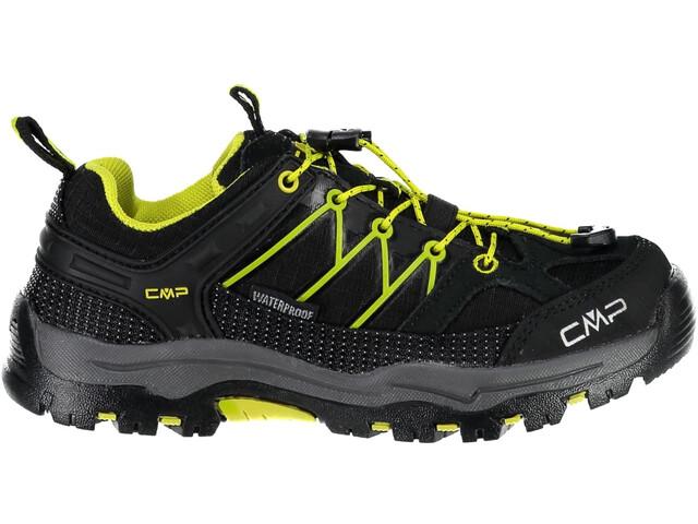 CMP Campagnolo Rigel Low WP Chaussures de trekking Enfant, nero-limeade